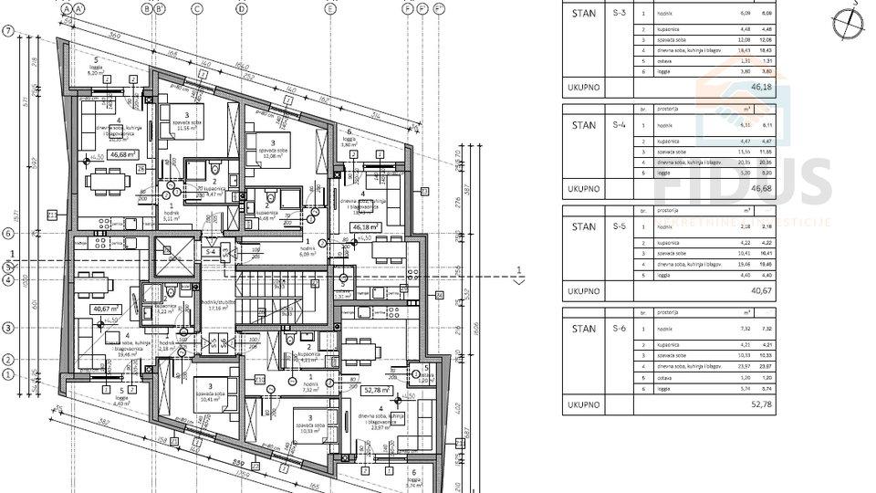 Appartamento, 52 m2, Vendita, Osijek - Gornji grad
